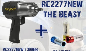 Супер промоция на гайковерт RC2277NEW + подарък ударни вложки и сак.